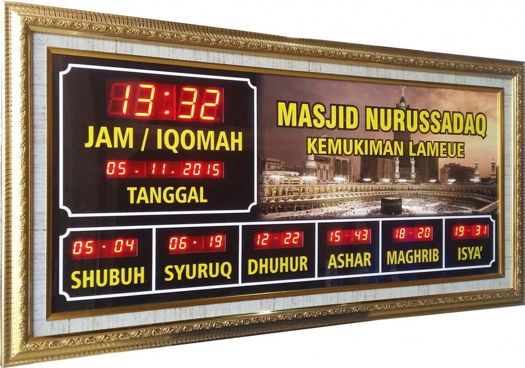jam digital masjid aceh
