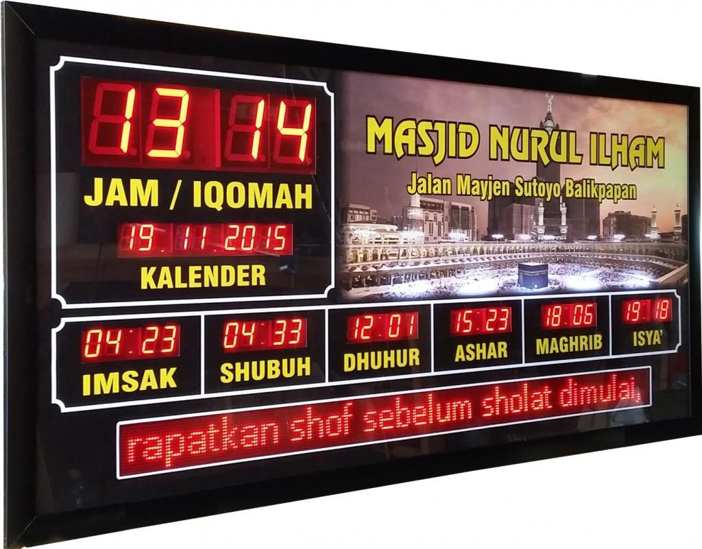 jam digital masjid di balikpapan dan samarinda