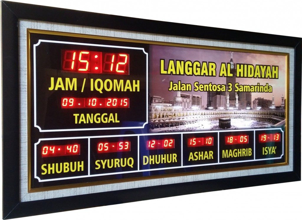 jam digital masjid di jogja