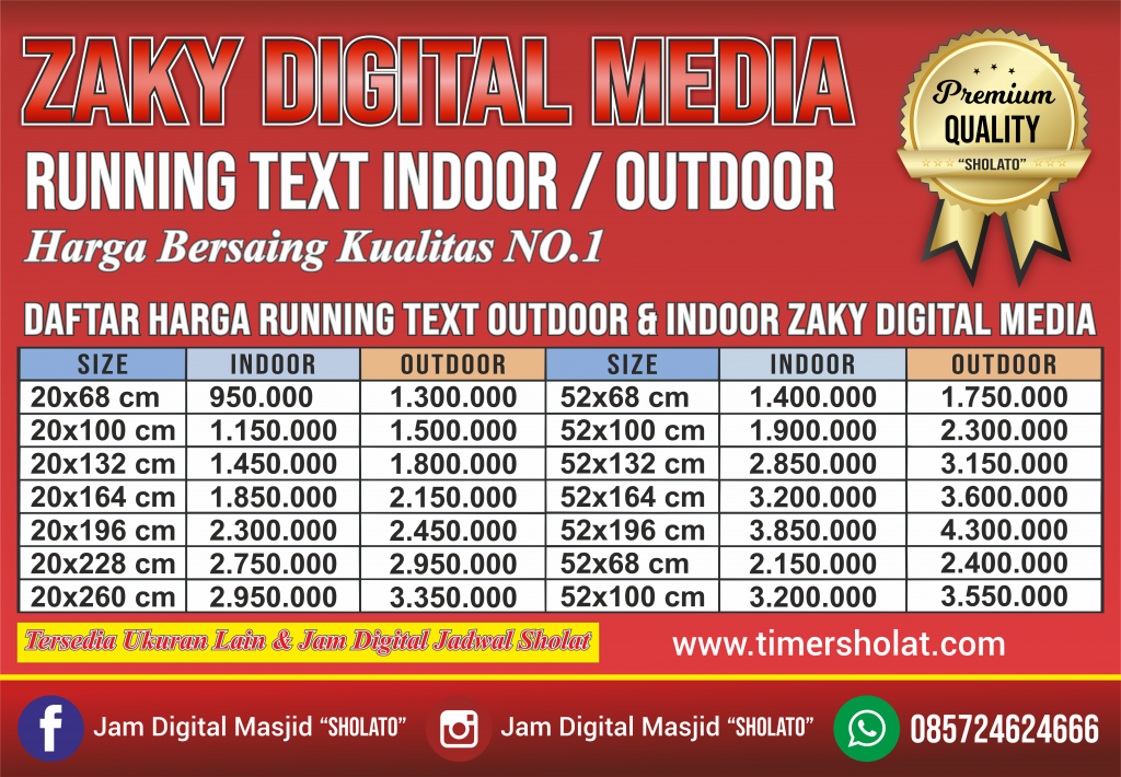 Jual Running Text Solo